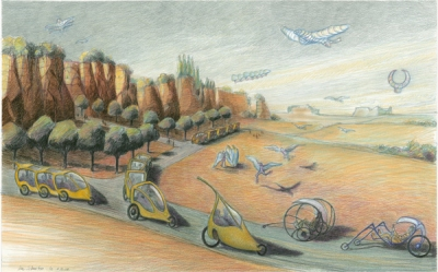 A vision of future transportation by Luc Schuiten
