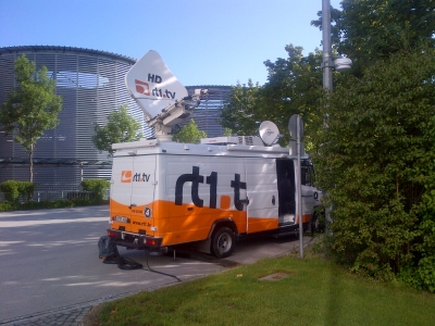 DSNG Receive Unit at the ICM in Munich