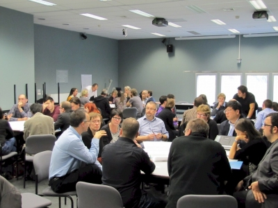 Group discussion during 2012 workshop