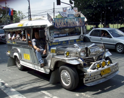 A Jeepney in the streets of Manila