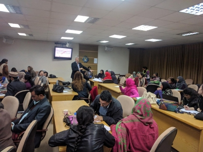 Workshop in Pakistan led by Mathy Vanbuel