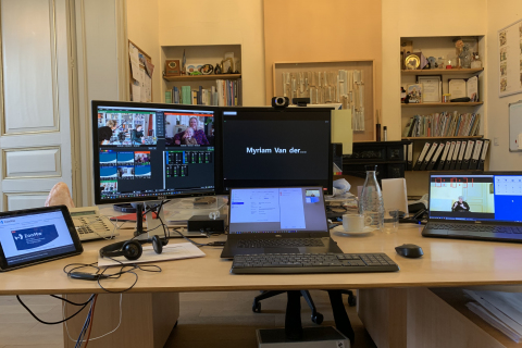 Live stream production office