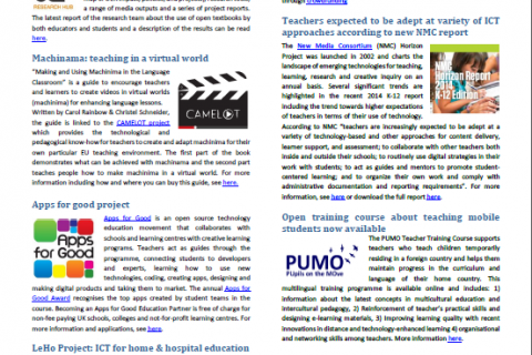 newsletter media learning news report media&learning